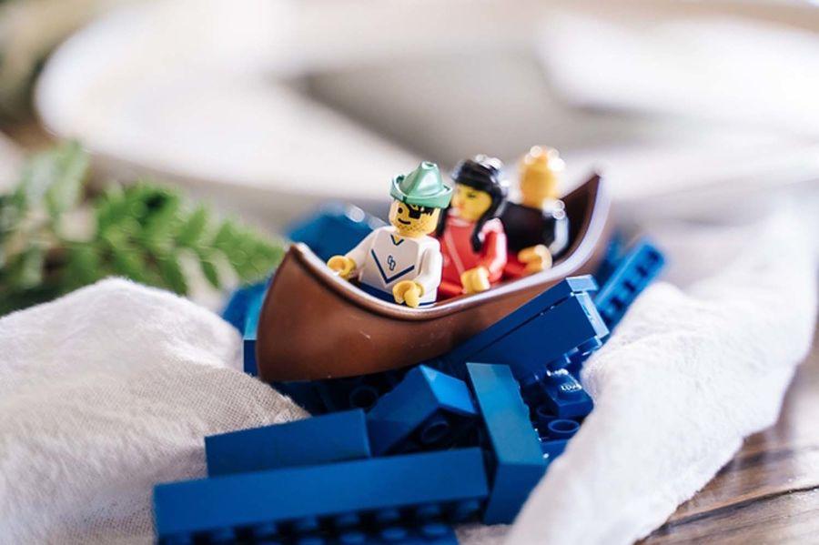 Moses, Miriam, and Aaron crossing the Lego Sea. Altavista, Virginia